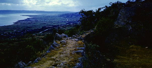 126 中城城跡 三の郭から見た風景