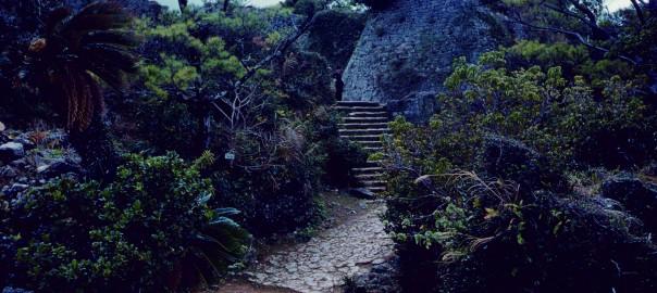 79 中城城跡 三の郭への階段