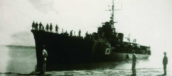 157 引揚者を乗せた駆逐艦