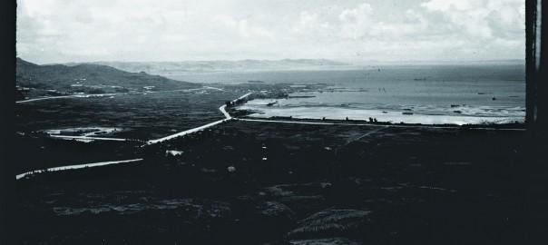 108 中城城跡より遠景 海岸風景
