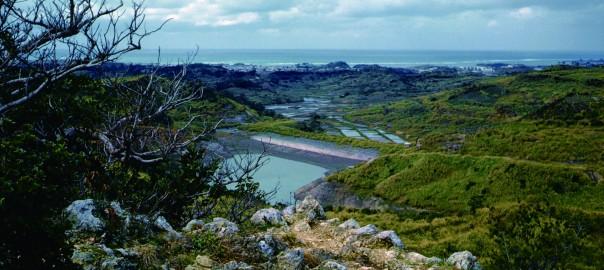 125 中城城跡 西の郭から見た風景