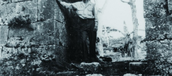 7 中城城跡 南の郭からみたアーチ門